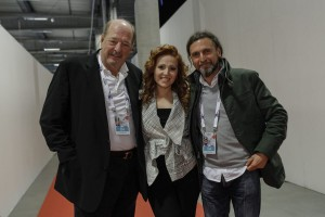 Valentina Monetta Fra Ralph Siegel e Mauro Balestri @Dennis Stechel (EBU)