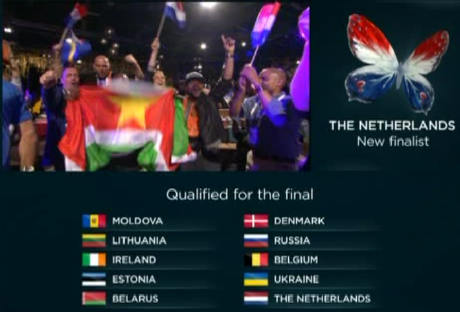 Prima semifinale ESC 2013 - 10 Finalisti