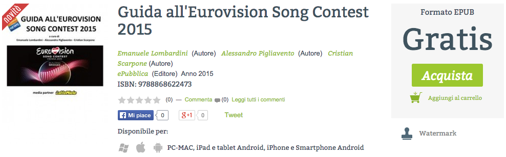 Guida Eurovision 2015 eBook