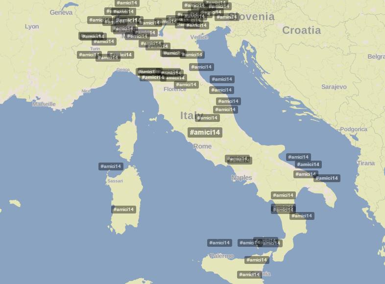 Hashtag #amici14