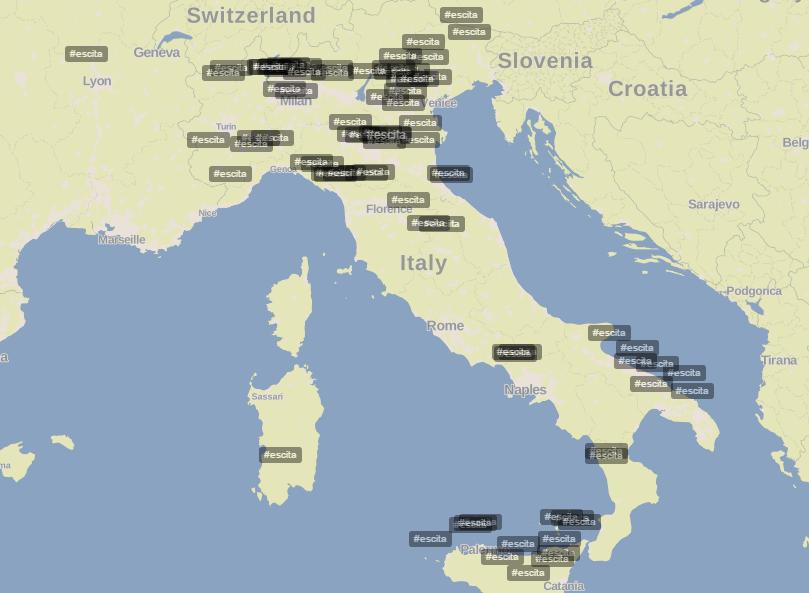 Mappa #ESCita Finale Eurovision 2015