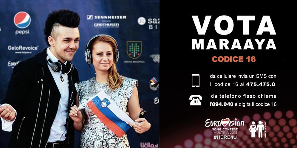 Vota per i Maraaya Eurovision 2015