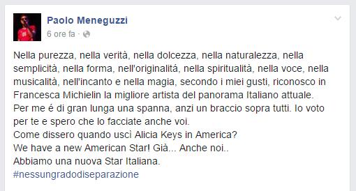 Paolo Meneguzzi Francesca Michielin