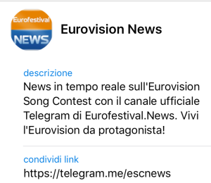 Eurofestival NEWS Telegram
