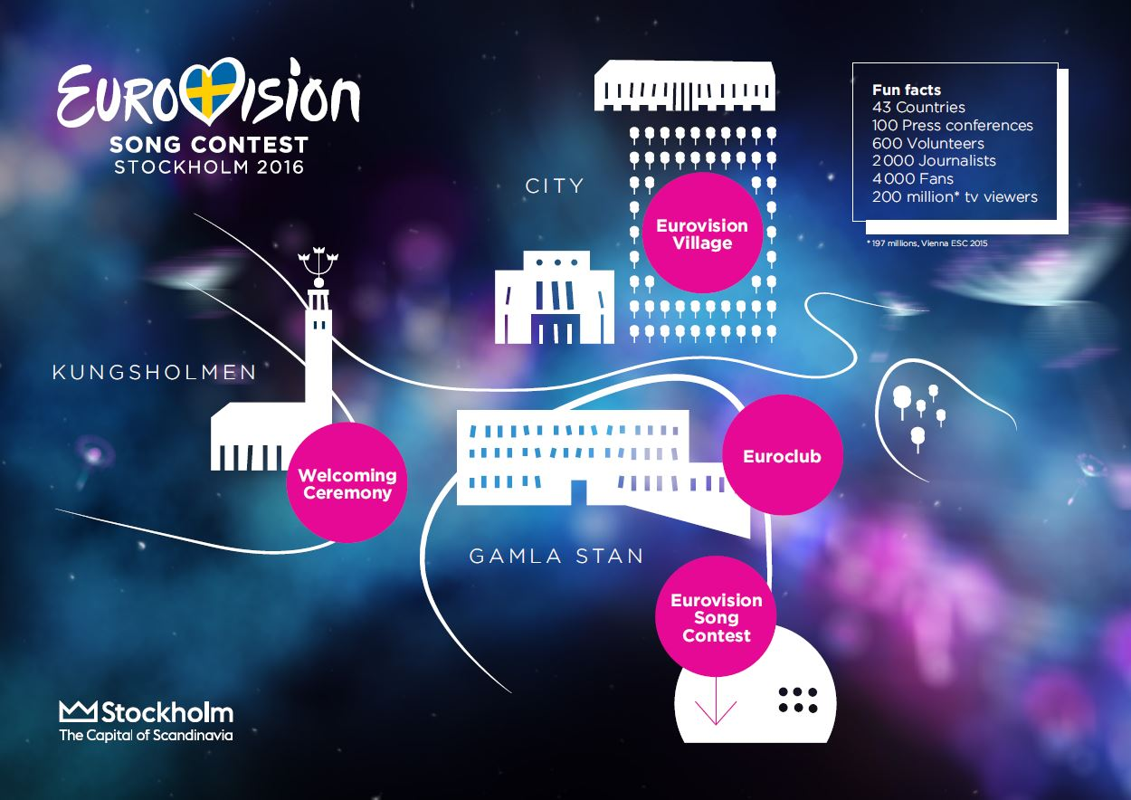 Mappa Eurovision 2016