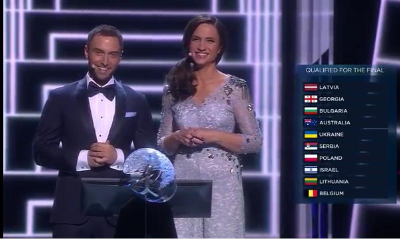 Finalisti Seconda Semifinale Eurovision 2016