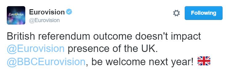 tweet eurovision brexit