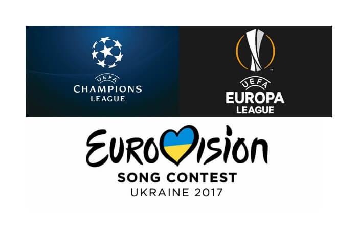 Semifinali Eurovision 2017: scontro con Champions e Europa League