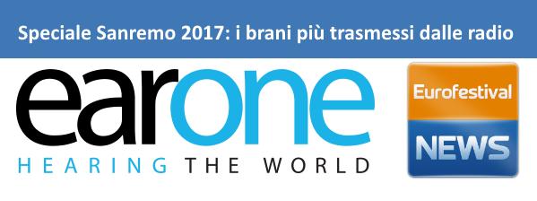 Sanremo 2017 i brani più trasmessi in radio