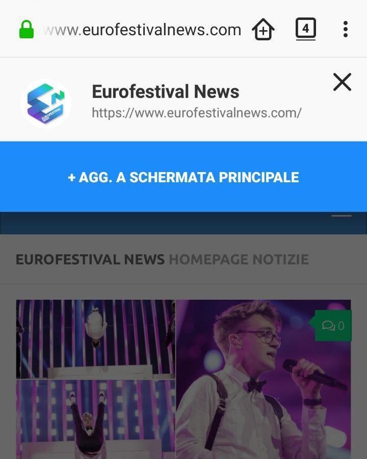 Web App Eurofestival News
