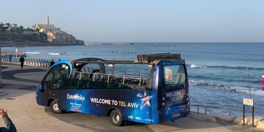eurovision bus tel aviv