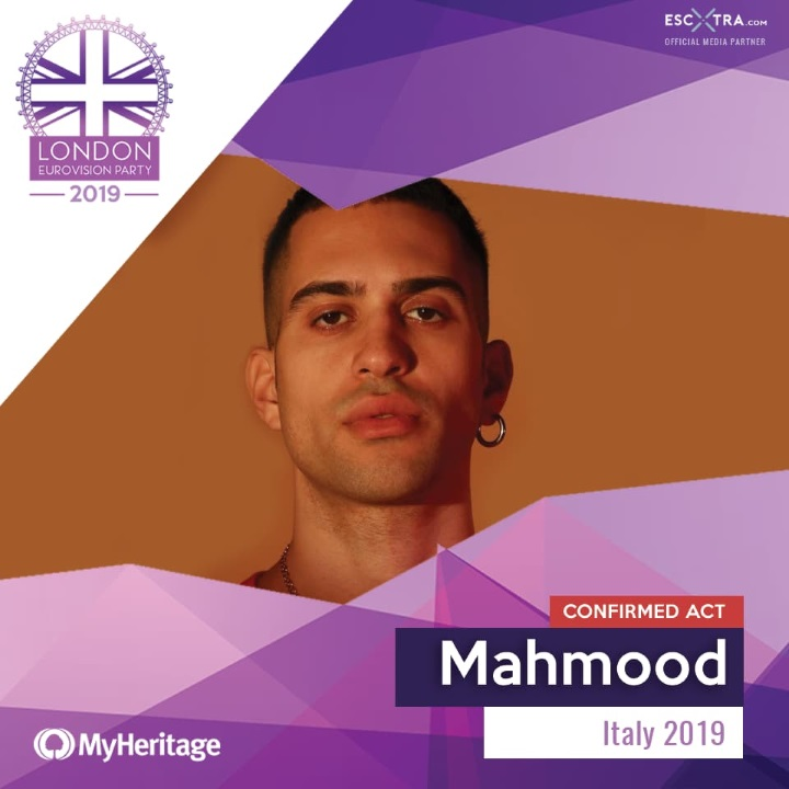 Mahmood London Eurovision Party