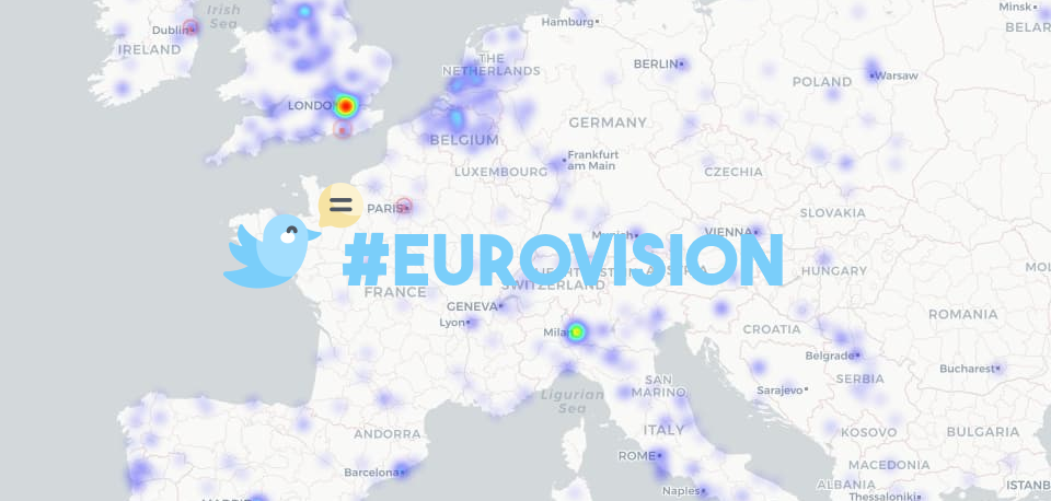 Mappa prima semifinale #Eurovision
