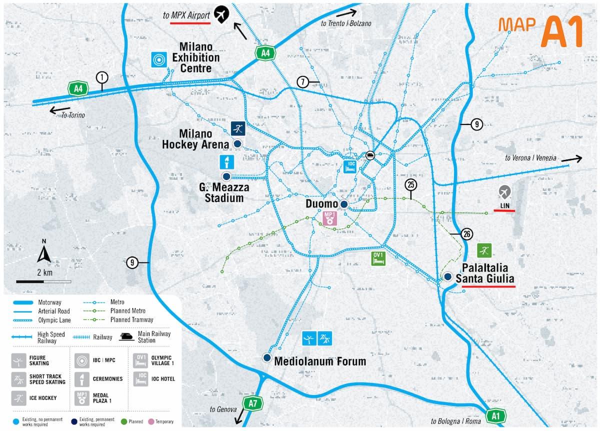 Mappa Milano PalaItalia