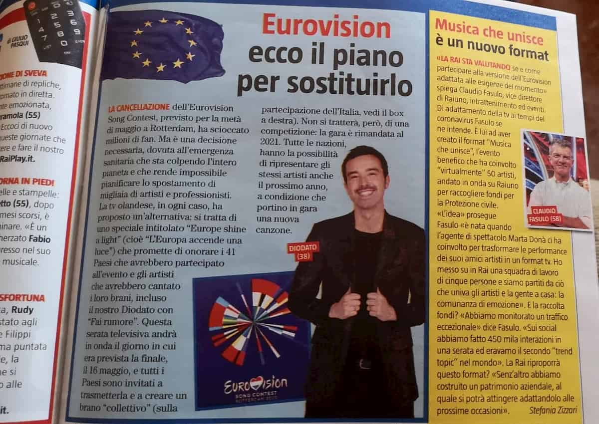 Tv Sorrisi e Canzoni - Europe Shine a Light