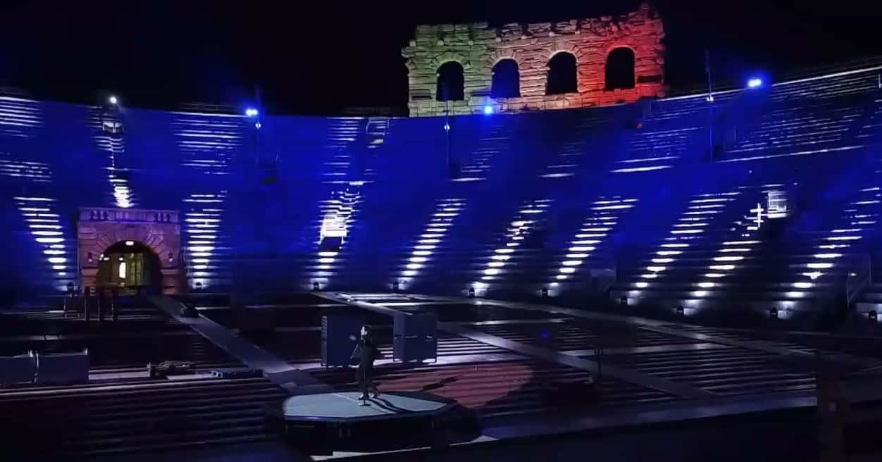 Diodato canta all'Arena di Verona