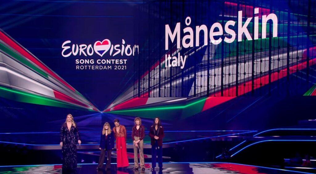 Presentazione Maneskin Eurovision 2021