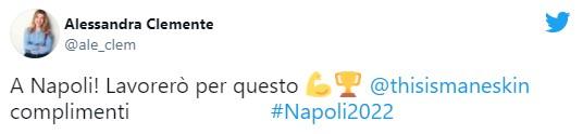 alessandra clemente tweet napoli eurovision 2022