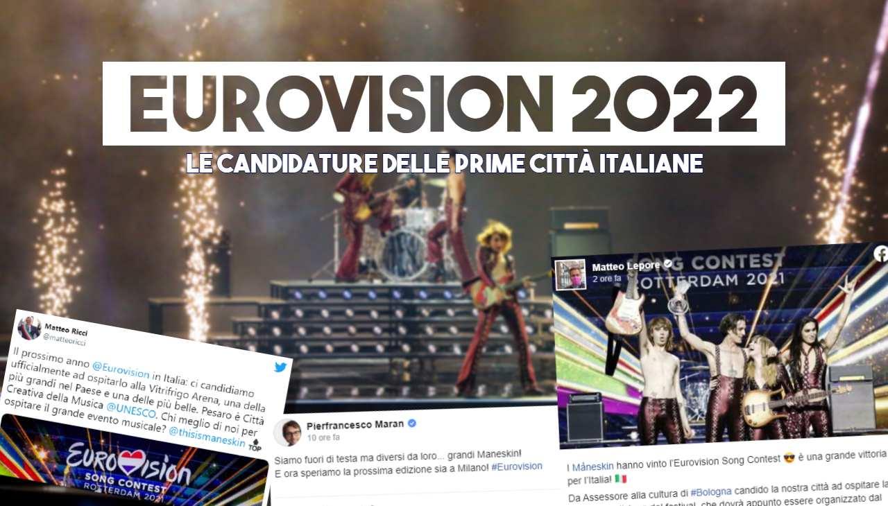 eurovision 2022 candidature città italiane bologna milano pesaro