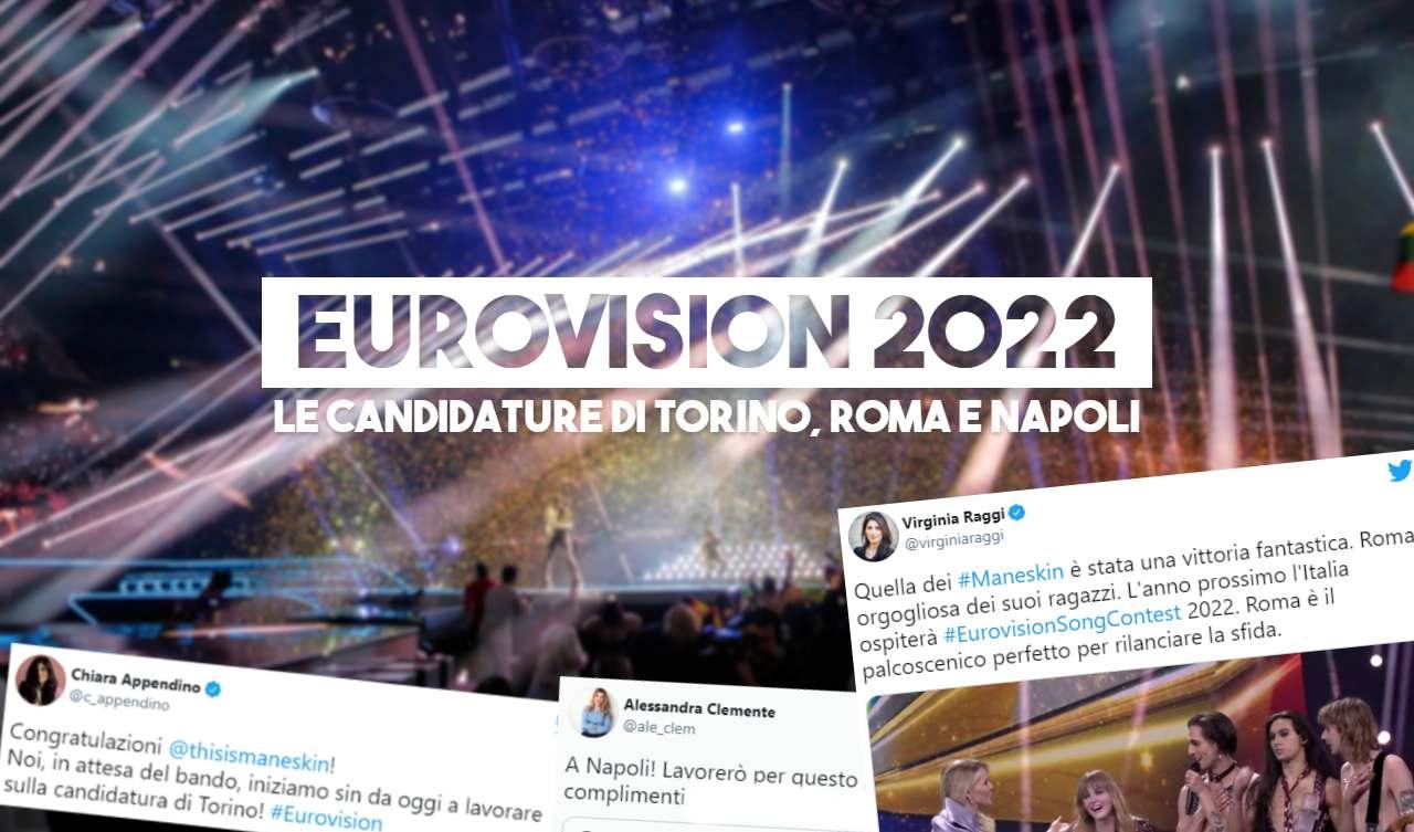 eurovision 2022 candidature città roma torino napoli