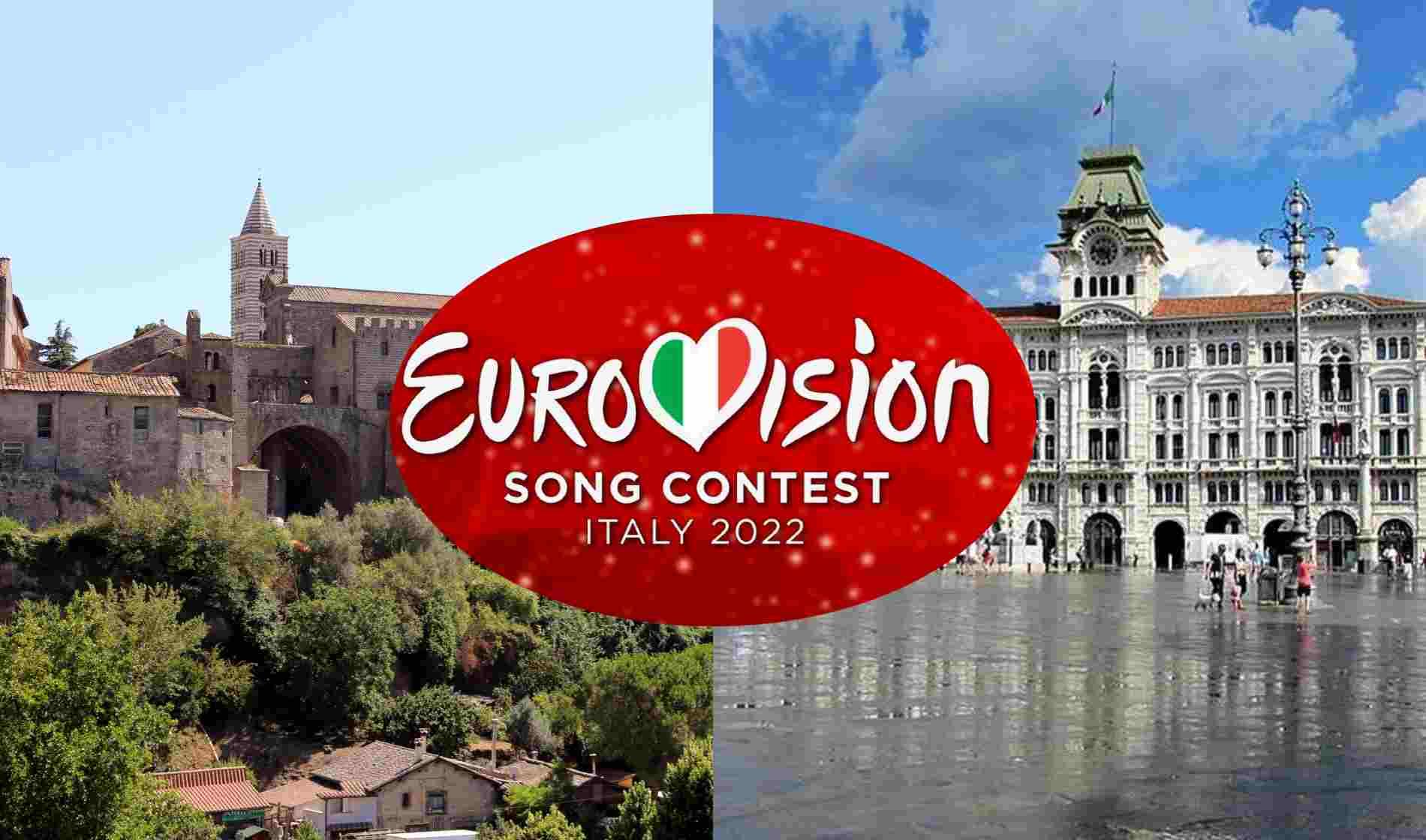 Eurovision 2022 città Trieste Viterbo