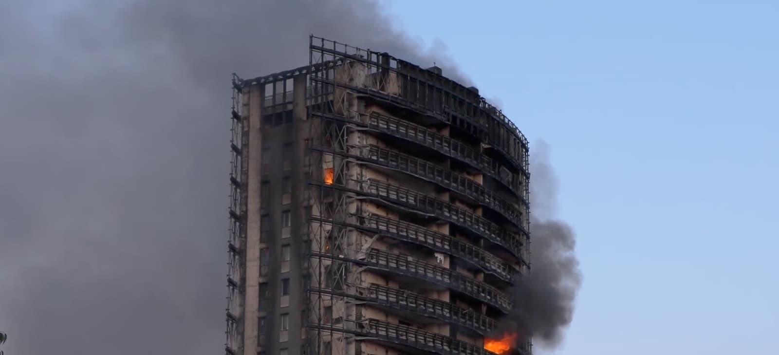 Incendio palazzo Milano Mahmood