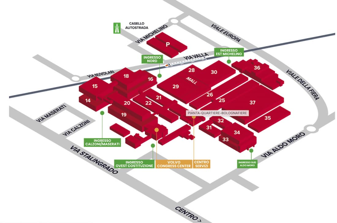 BolognaFiere map