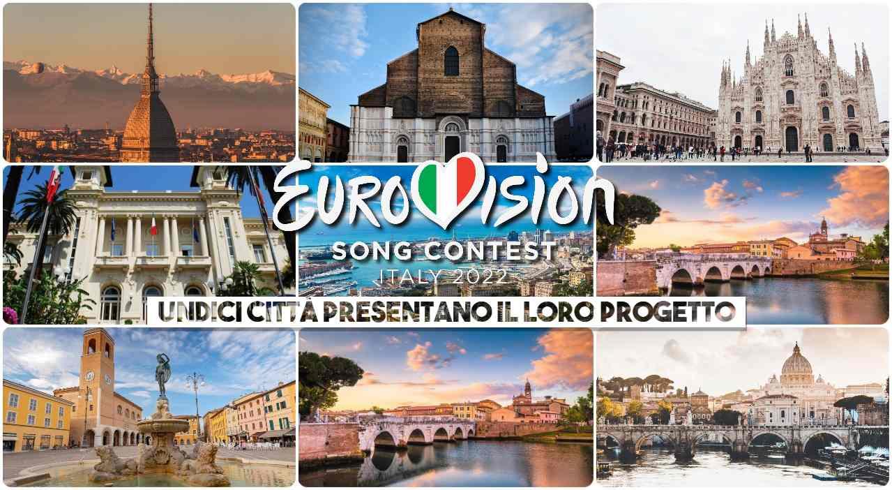 eurovision 2022 unidici città presentano progetto